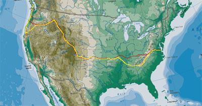 Bike Across Missouri Route Across America Bike Route