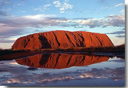 Australia Bicycle Touring Photos Ayers Rock Rain